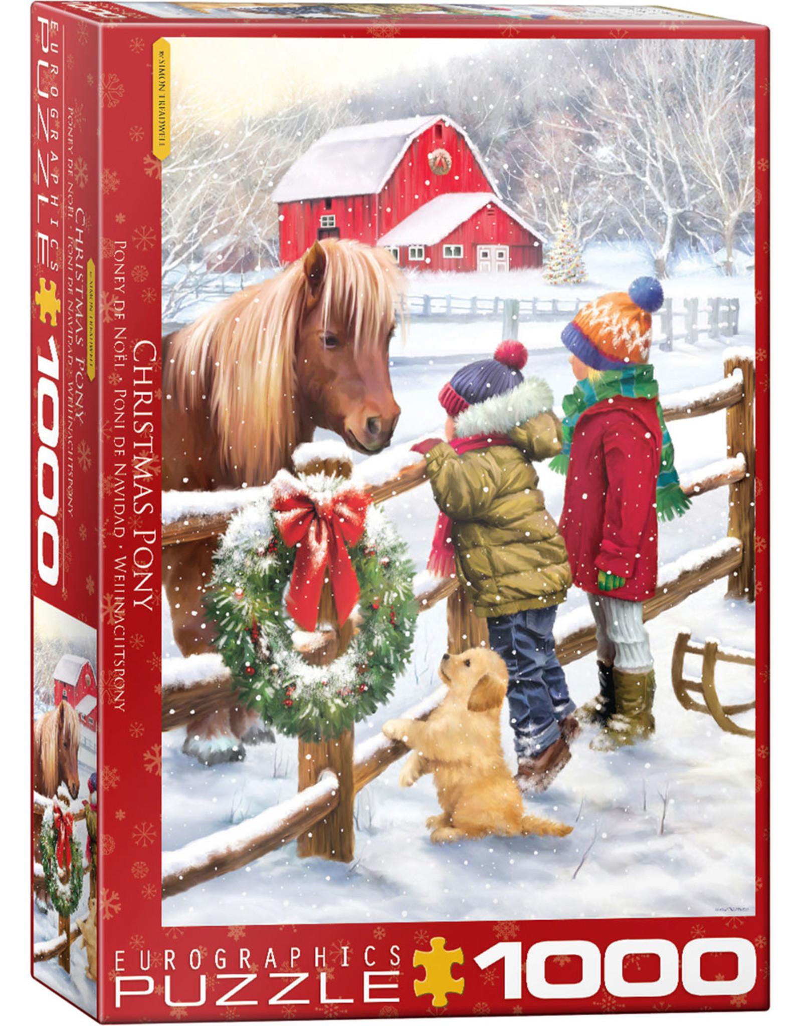 Eurographics Christmas Pony 1000pc
