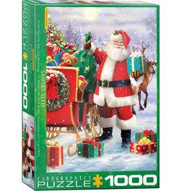 Eurographics Santa with Sled 1000pc