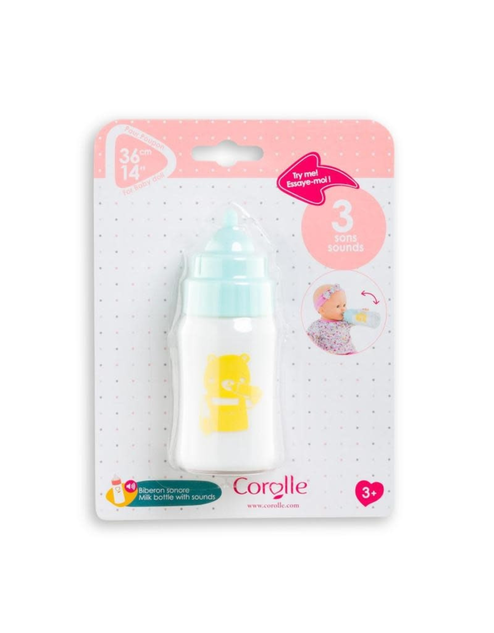 """Corolle Corolle 14""""/17"""" Doll Milk Bottle with Sound"""