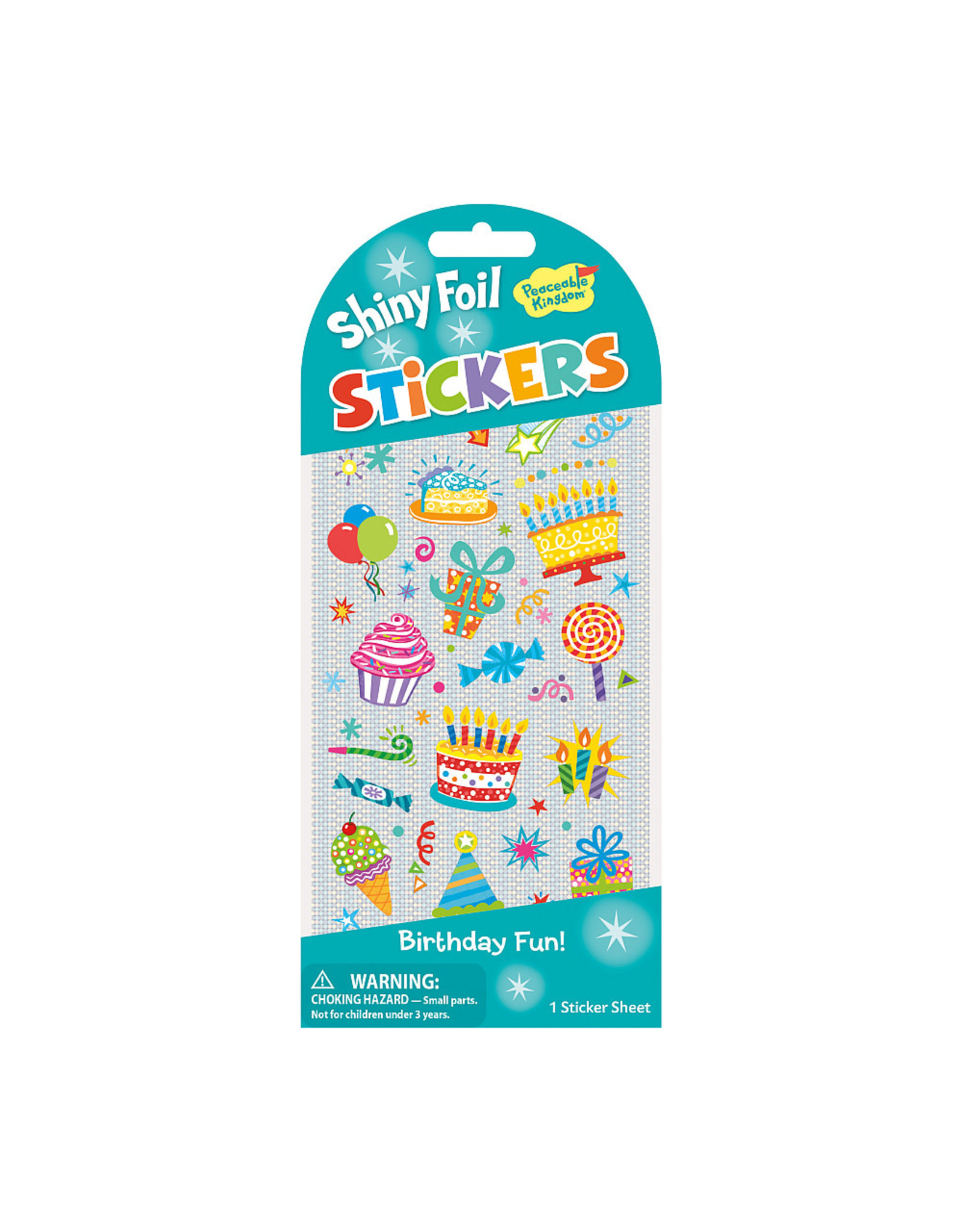 Peaceable Kingdom Birthday Icons Puffy Stickers