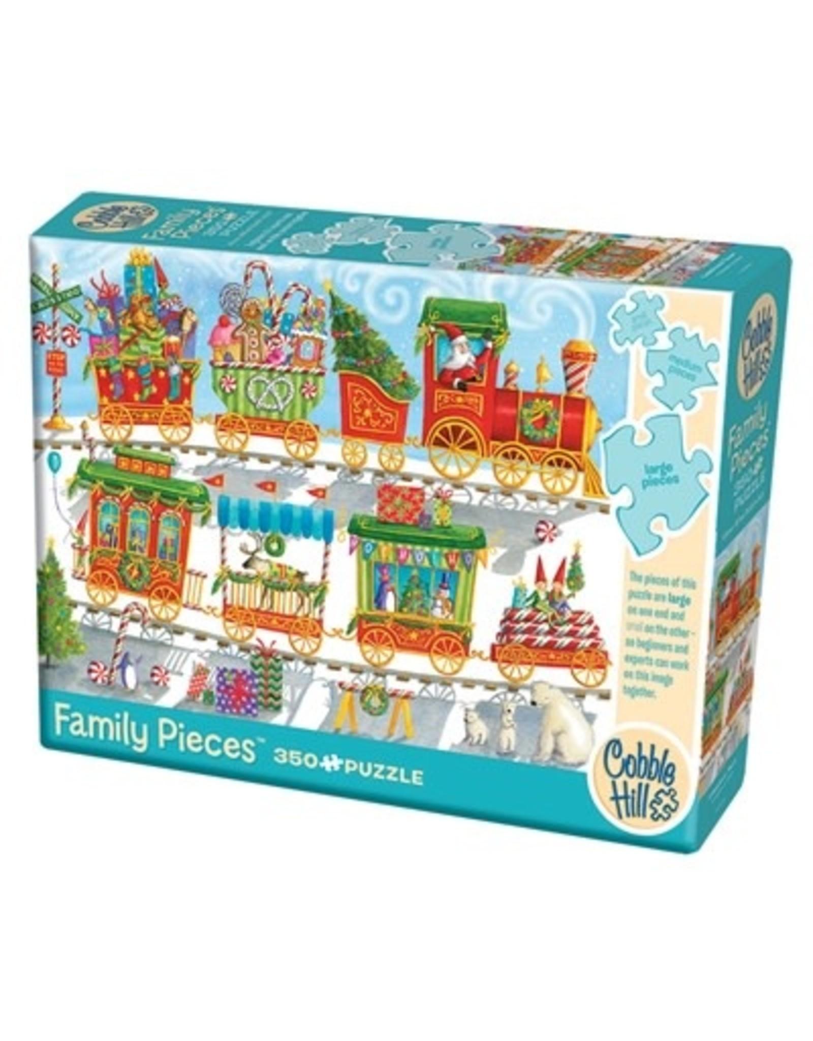 Cobble Hill Christmas Train 350pc Family Puzzle