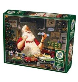 Cobble Hill Santa Painting Cars 1000pc