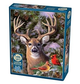 Cobble Hill One Deer Two Cardinals 500pc