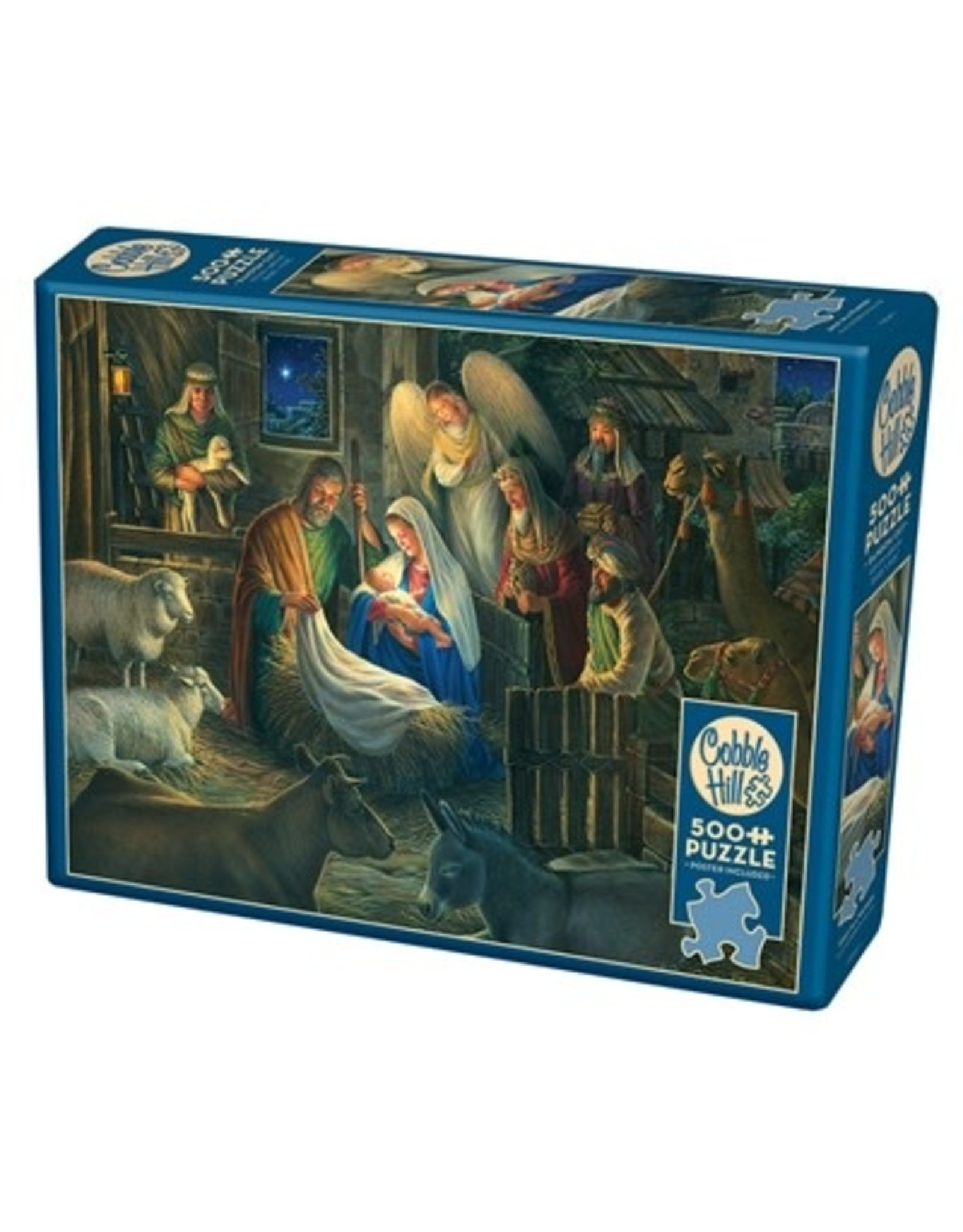 Cobble Hill Away in a Manger 500pc