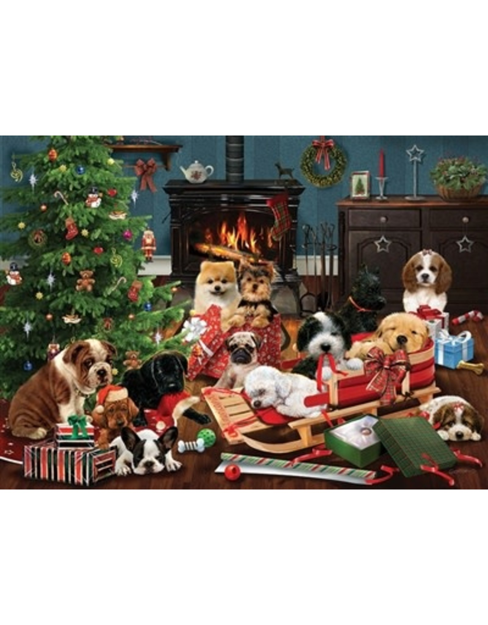 Cobble Hill Christmas Puppies 500pc