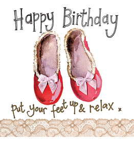 Alex Clark Art Slippers Birthday Card