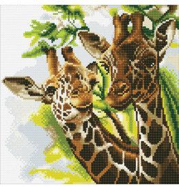 D.I.Y Crystal Art Kit Crystal Art Medium Framed Kit - Friendly Giraffes
