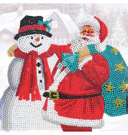 D.I.Y Crystal Art Kit Crystal Art Card Kit - Santa and Snowman