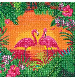 D.I.Y Crystal Art Kit Crystal Art Medium Framed Kit - Fancy Flamingos