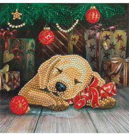 D.I.Y Crystal Art Kit Crystal Art Card Kit - Sleepy Puppy