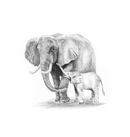 Royal & Langnickel Mini Sketching Made Easy - Elephant and Baby