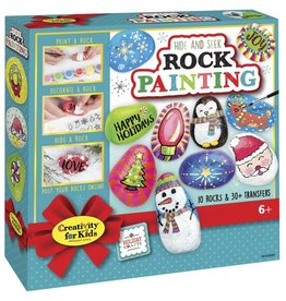 Creativity For Kids Holiday Hide and Seek Rock Painting Kit