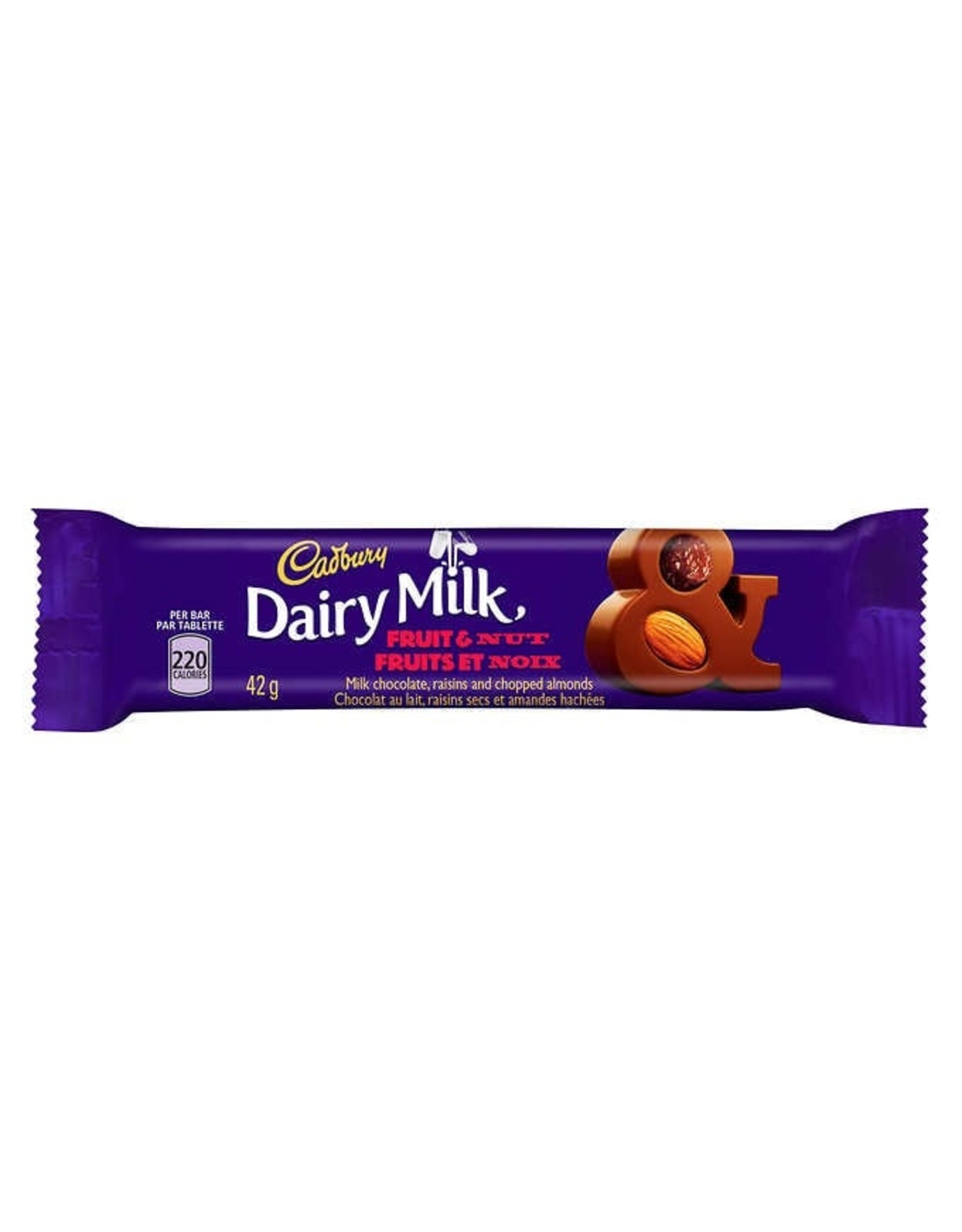 Cadbury Dairy Milk Fruit & Nut Bar (British)