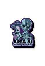 NMR Area 51 Nothing To See Funky Chunky Magnet