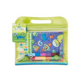 Ooly Mini Traveler Coloring + Activity Kit - Dinosaurs in Space