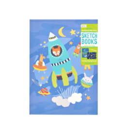 Ooly Doodle Pad Duo Sketchbooks: Space Critters - Set of 2