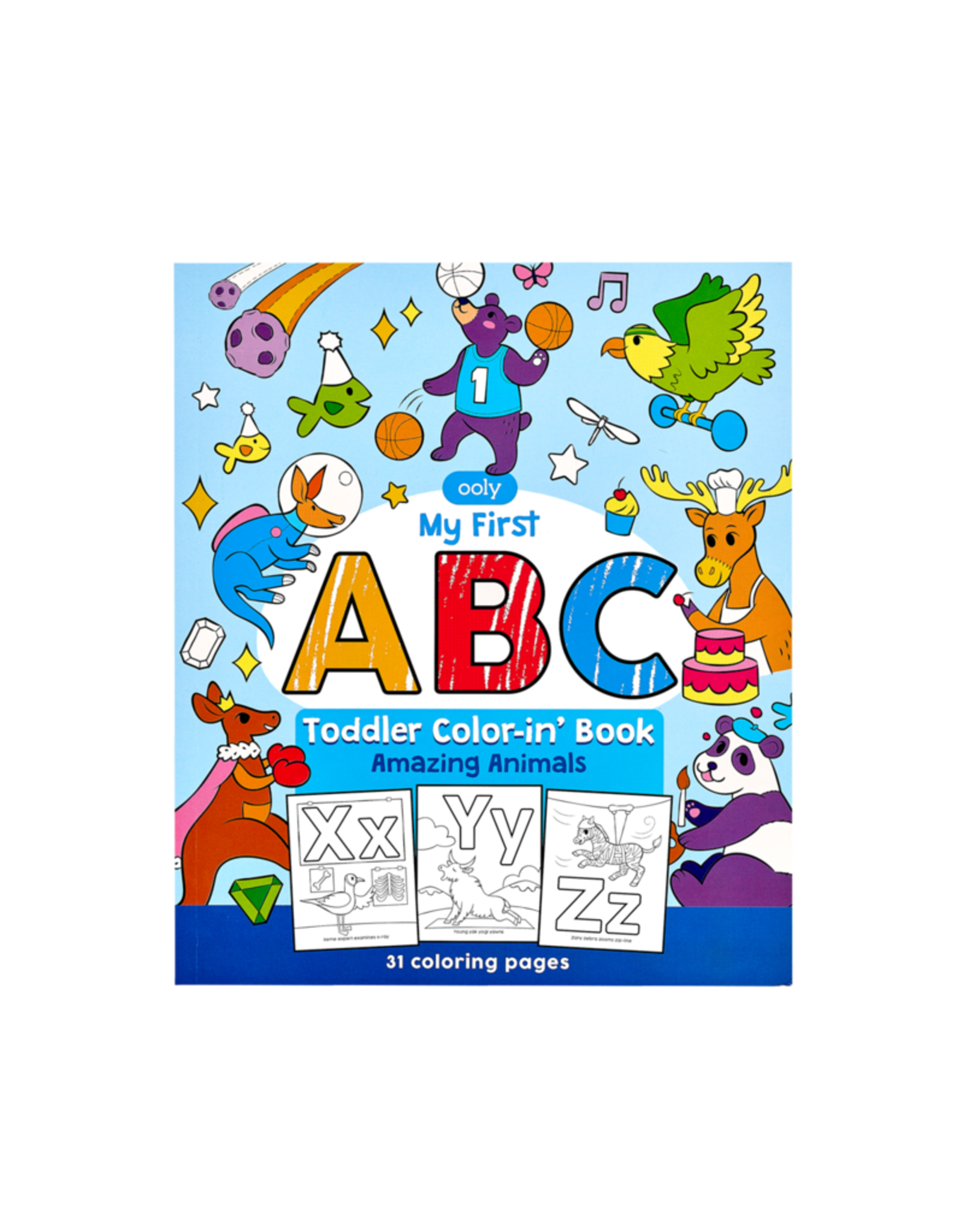 Ooly ABC: Amazing Animals Toddler Coloring Book