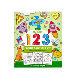 Ooly 123: Shapes + Numbers Toddler Coloring Book