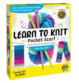 Creativity For Kids Learn to Knit Pocket Scarf