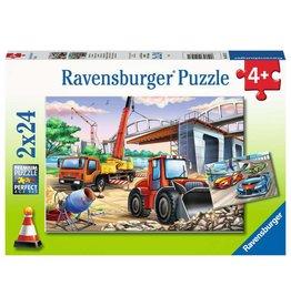 Ravensburger Construction & Cars 2x24pc