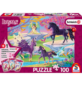 Glade with Unicorn Family 100pc