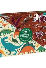 Chronicle Books 100 pc Puzzle: Dinosaur Dig Double Side