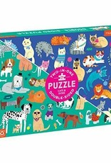 Chronicle Books 100 pc Puzzle: Double Side Cats & Dogs