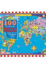 eeBoo 100pc-Puzzle: World Map