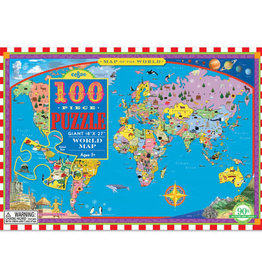 eeBoo 100pc-Puzzle: World Map