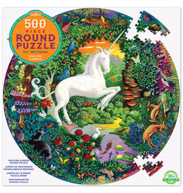 eeBoo 500pc-Puzzle: Unicorn Garden