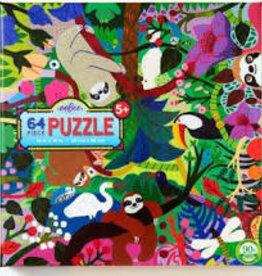 eeBoo 64pc-Puzzle: Sloths at Play