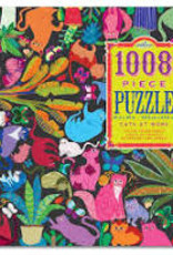 eeBoo 1008pc-Puzzle: Cats at Work