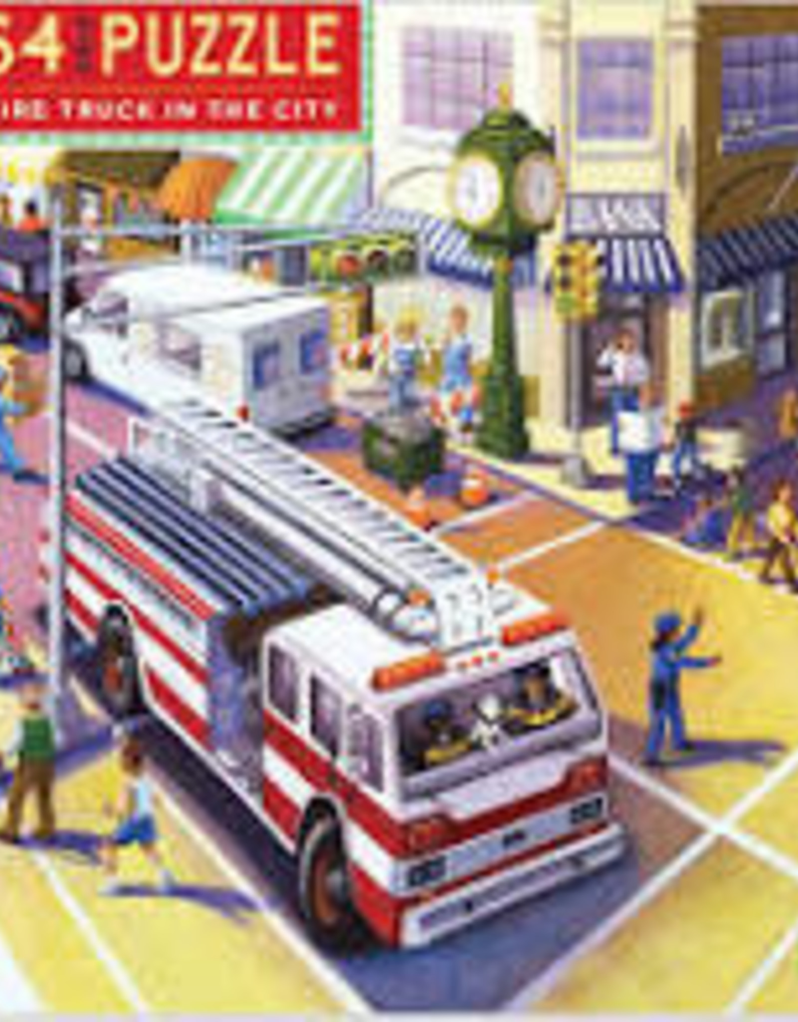 eeBoo 64pc-Puzzle: Fire Truck