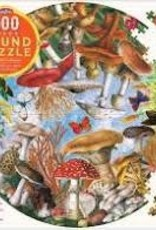 eeBoo 500pc-Puzzle: Mushrooms & Butterfly