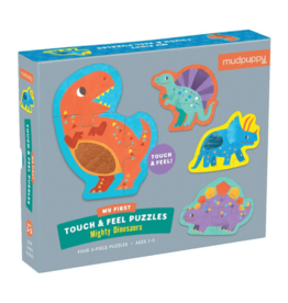 Chronicle Books Touch and Feel Puzzle: Mighty Dinosaurs