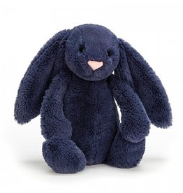 Jellycat Bashful Navy Bunny: Medium 12""