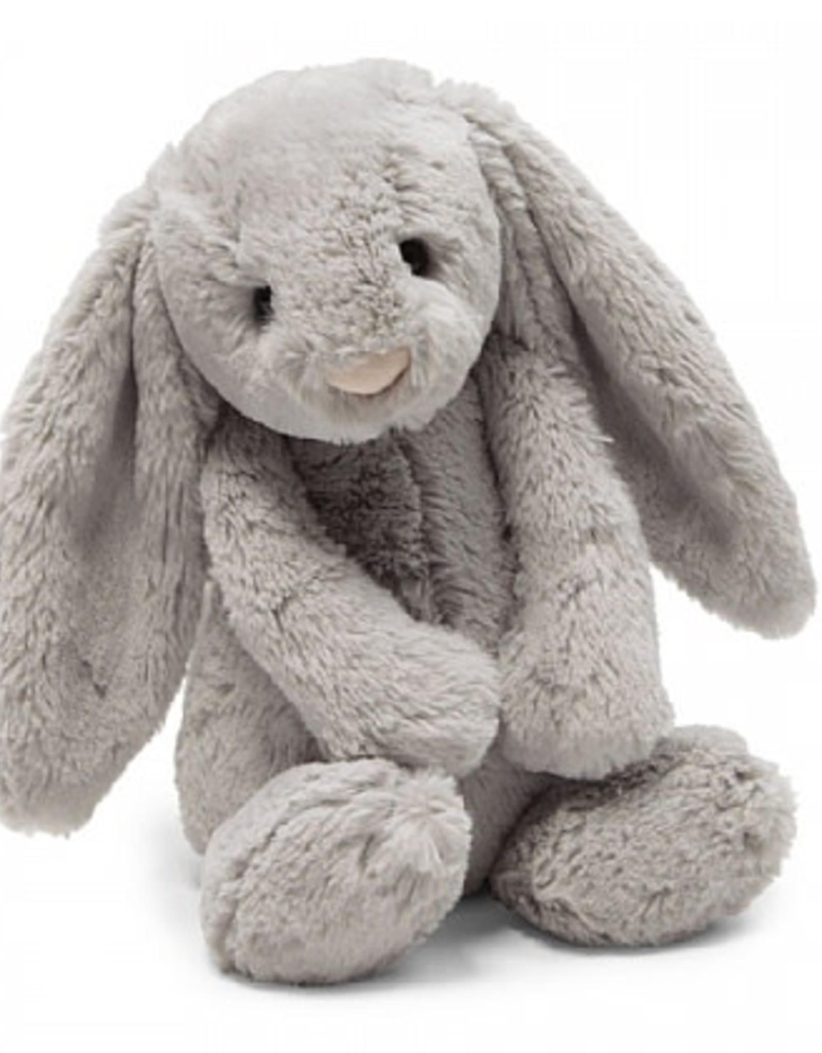 """Jellycat Bashful Grey Bunny: Large 15"""""""