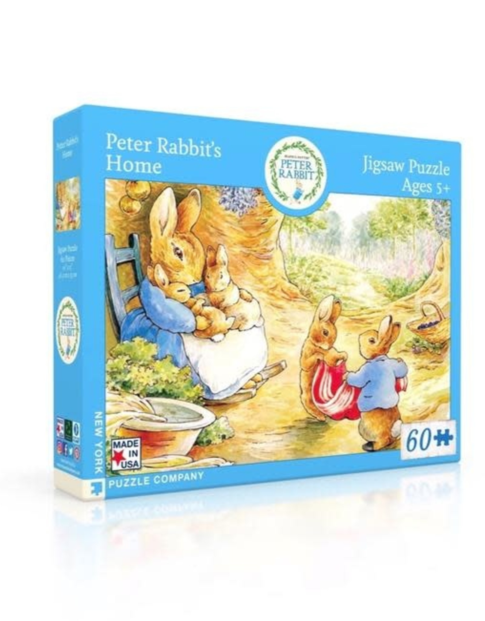 New York Puzzle Company 60 pc Puzzle: Peter Rabbit's House