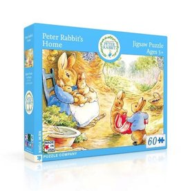 New York Puzzle Company 60 pc Puzzle: Peter Rabbit's House
