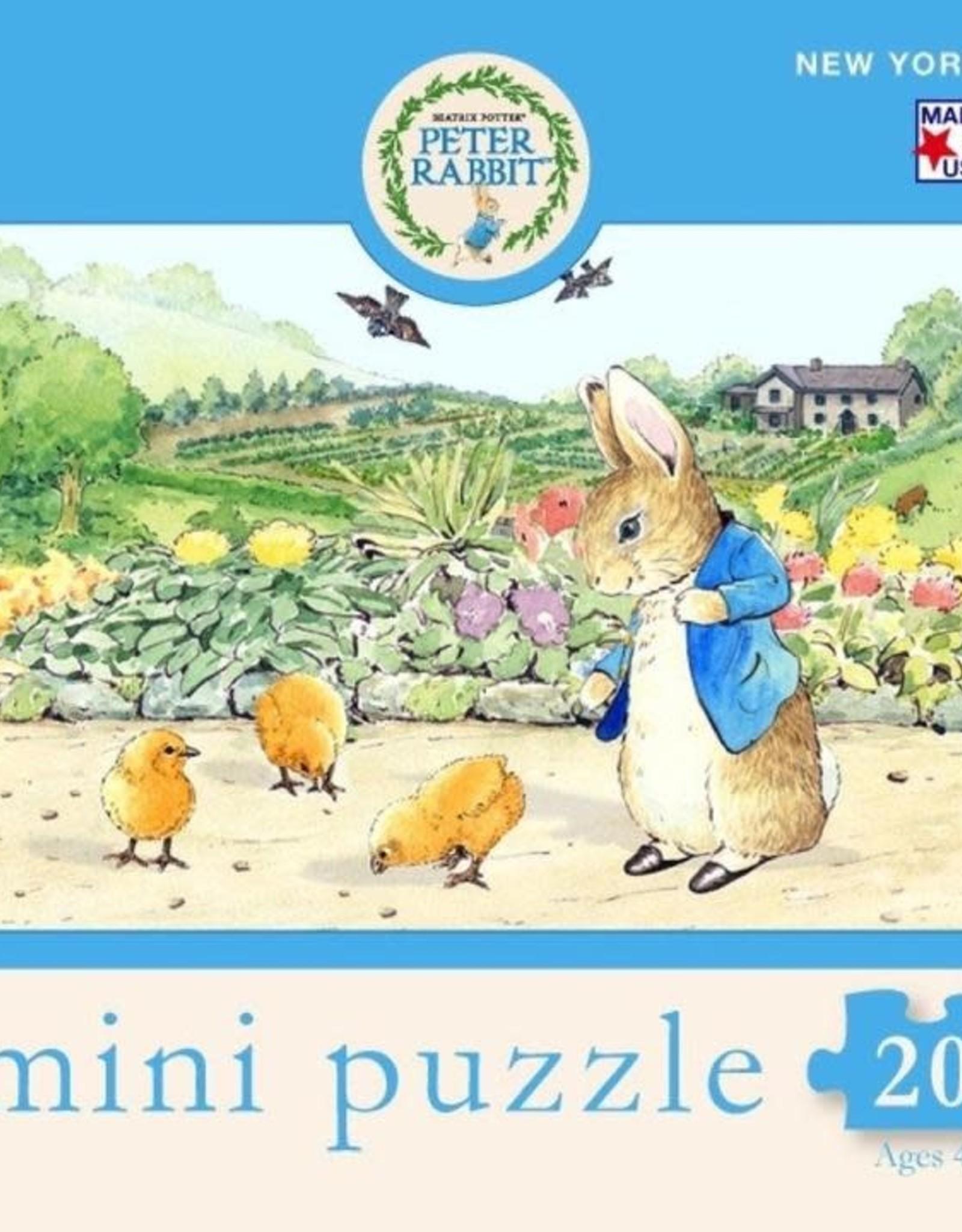 New York Puzzle Company 20 pc Puzzle: Spring Chicks Mini