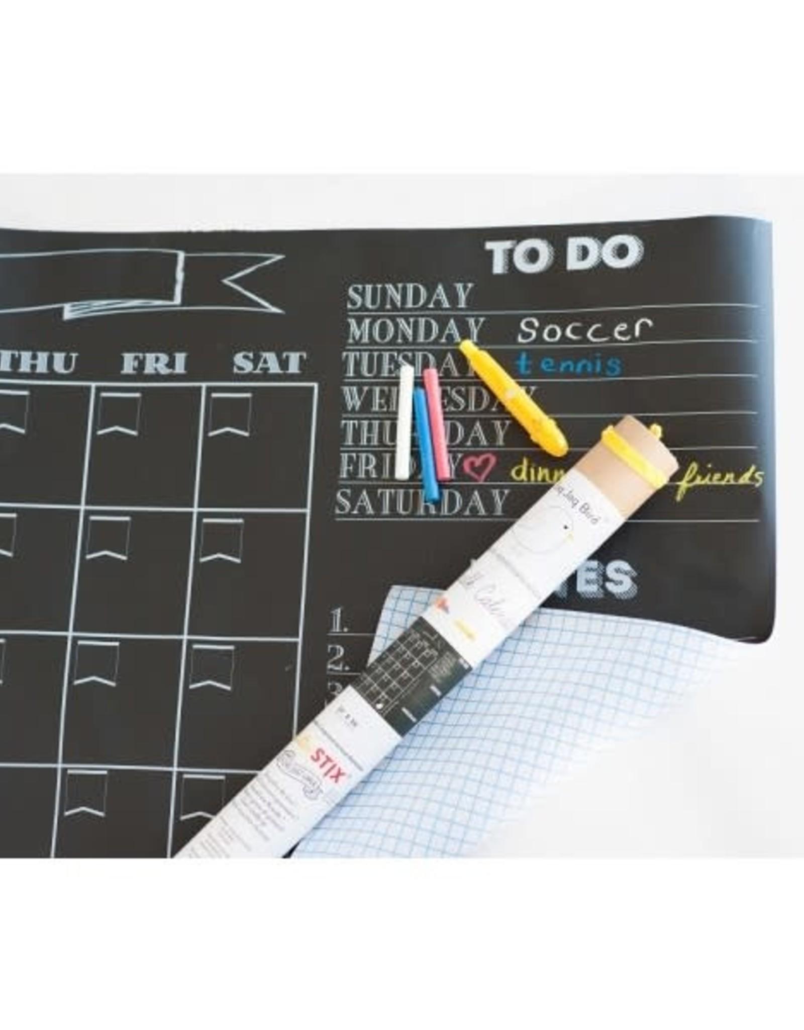 Jaq Jaq Bird Chalk Board Calendar Decal