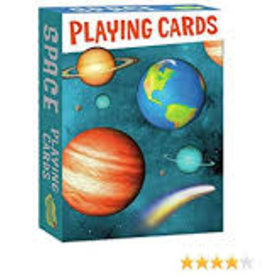 Peaceable Kingdom Playing Cards: Space