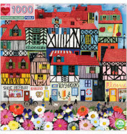eeBoo 1000pc-Puzzle: Whimsical Village