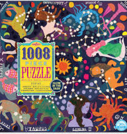 eeBoo 1000pc-Puzzle: Zodiac Glow in the Dark