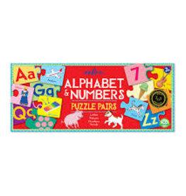 eeBoo Puzzle Pairs: Alphabet & Numbers