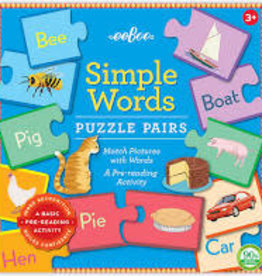 eeBoo Puzzle Pairs: Simple Words