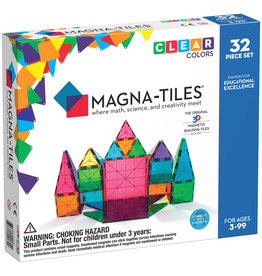 Valtech Magna-Tiles: Clear Colors 32pc