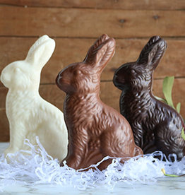 Shane Confectionery Small Hollow Sitting Rabbit, Milk Chocolate-Fragile, DELIVERY ONLY