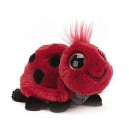 "Jellycat Frizzles Ladybug 6"""