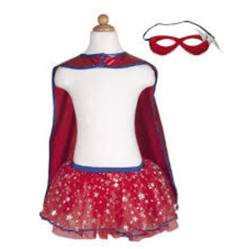 Creative Education Superhero Tutu, Cape & Mask Set, Blue/Red